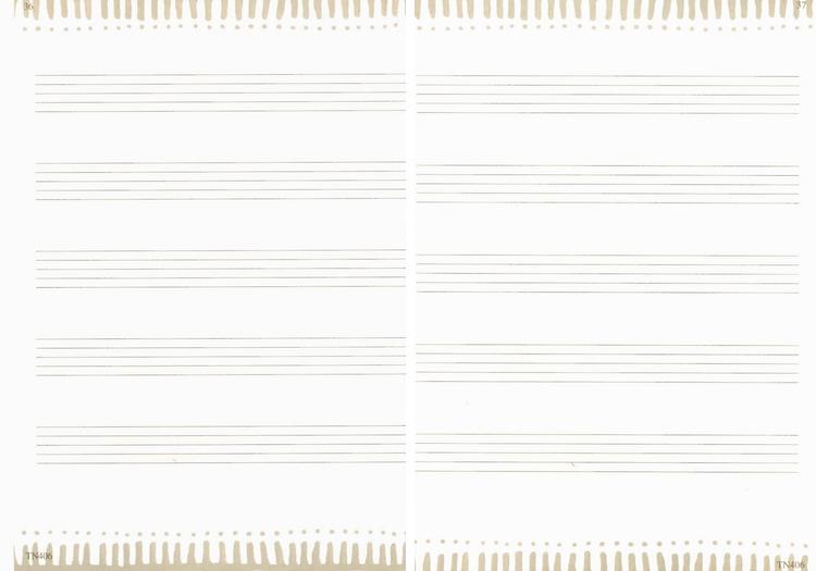 五线谱空白纸